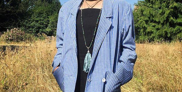 Vintage Adini Striped cotton blazer (S-M)