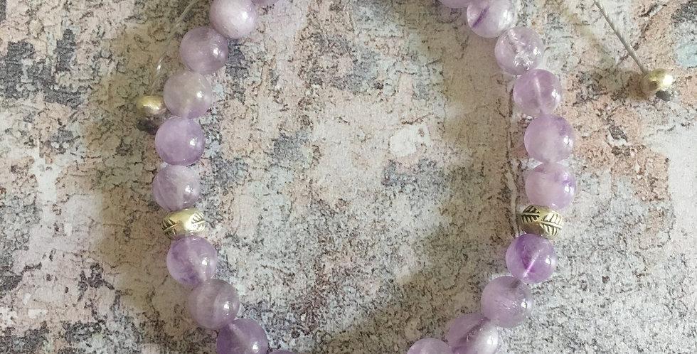 Lavender Jade Harmony Bracelet