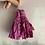 Thumbnail: French 'hot pink' patterned vintage sari-silk earrings