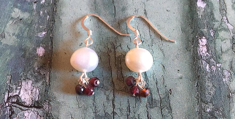 Artisan Pearl & Garnet drops