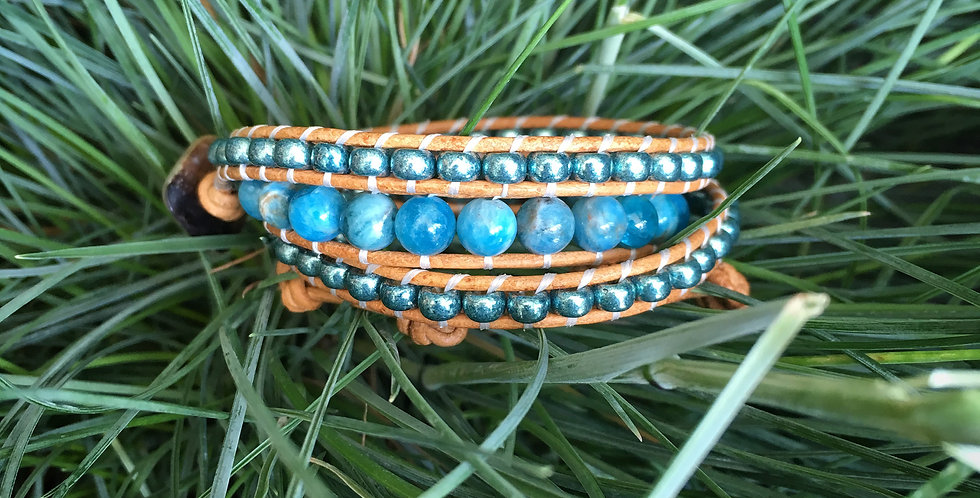 Apatite and Sea Green Japanese Glass Wrap
