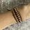 Thumbnail: Mauve Freshwater Pearl & Gold Japanese glass wrap