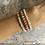 Thumbnail: Thulite & Mother of Pearl wrap bracelet