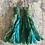 Thumbnail: Sea-Green patterned vintage sari-silk earrings