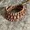 Thumbnail: Natural Thulite triple wrap bracelet
