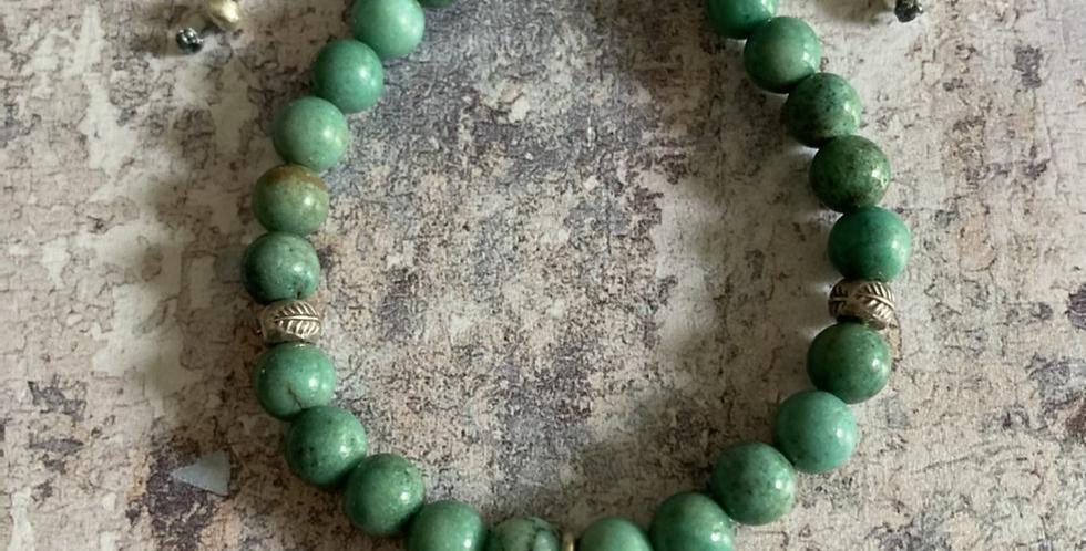 Chrysoprase & Silver Harmony bracelet