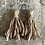 Thumbnail: 'Old Rose' Sari-silk earrings