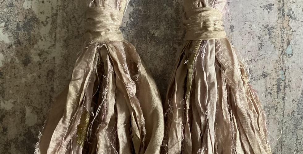 'Old Rose' Sari-silk earrings