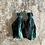 Thumbnail: 'Arabian Blue/green' sari-silk earrings