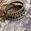 Thumbnail: Petrol Blue Druzy stones & Matte gold Japanese glass wrap