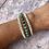 Thumbnail: Chrysoprase & Mother of Pearl triple wrap bracelet