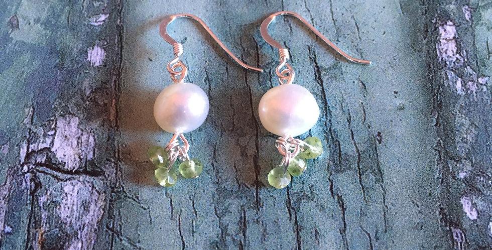 Artisan Pearl & Peridot drops