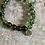 Thumbnail: Green Phantom Quartz & Oxidised Silver 'stretch' bracelet