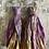 Thumbnail: 'Lilac petal' sari-silk earrings