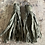 Thumbnail: Pewter grey Sari-silk earrings
