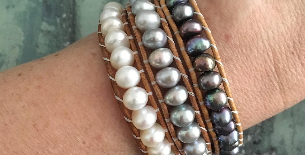 Peapod single wrap bracelets