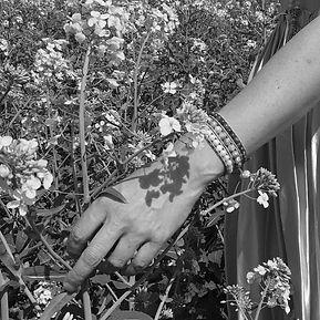 wrap bracelet and flowers