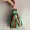 Thumbnail: Mint Green & terracotta patterned vintage sari-silk earrings
