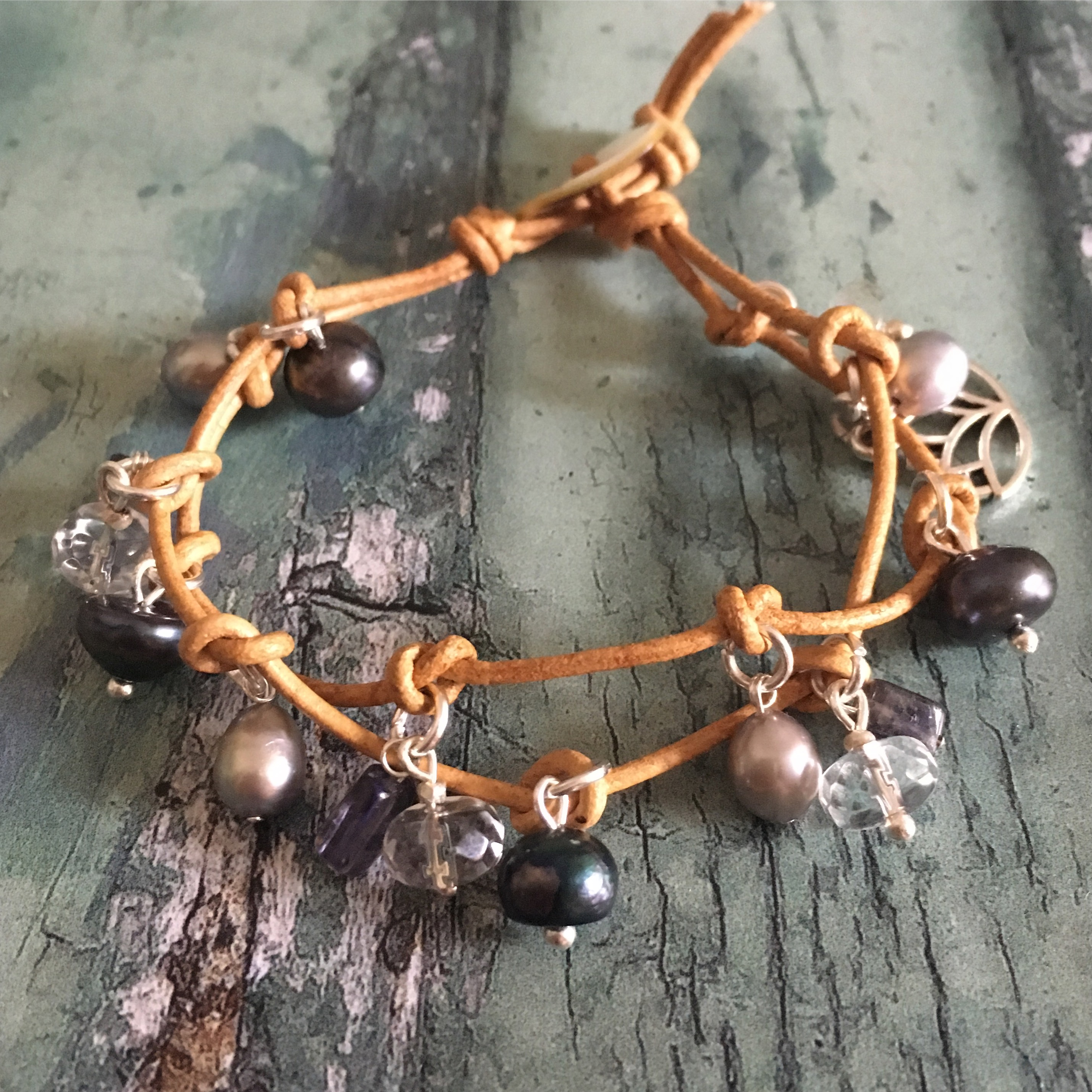 Iolite Charm Bracelet