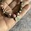 Thumbnail: Natural Stone & Oxidised Silver bracelets (unisex coastal)