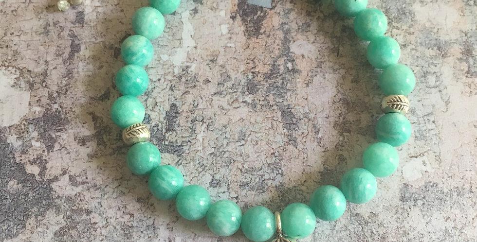 Peruvian Amazonite Harmony bracelet