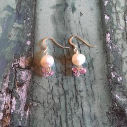 Semi-precious pearl drops