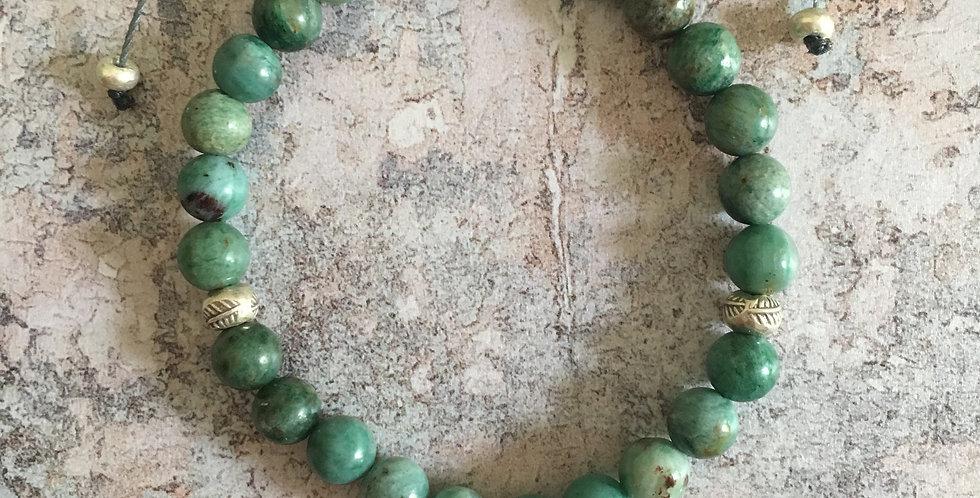Australian-Bloodstone Harmony Bracelet