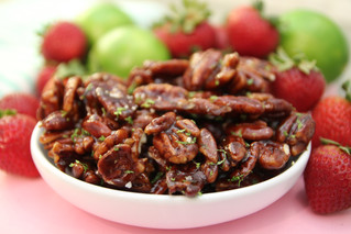 Strawberry-Lime Candied Pecans