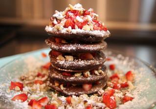 Mini Double Chocolate Pancakes