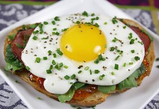 Scrumptious Open Face Breakfast Sandwich