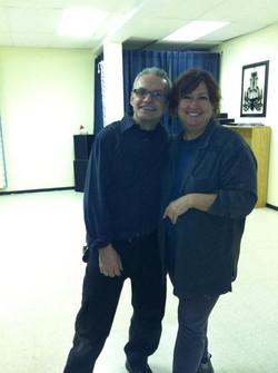 Même Eddy, mon partenaire de danse, est venu nous retrouver et à mis les mains à la pâte!