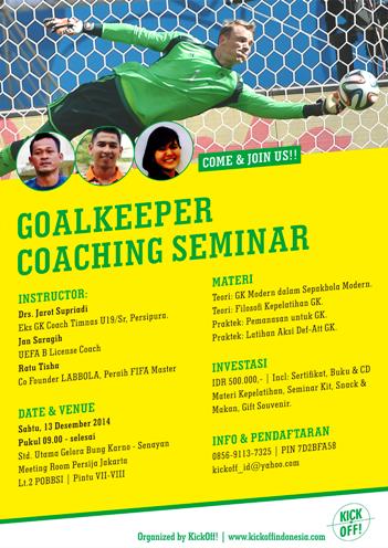 KickOff Goalkeeper Coaching Seminar 13Des2014-PosterSmall.png