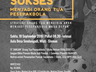 Seminar Football Parenting   Yogya, 10 Sept '16