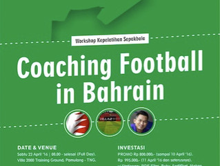 Workshop Kepelatihan Coaching in Bahrain   Jkt, 23 Apr '16