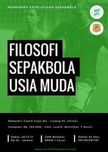 "Workshop Kepelatihan ""FILOSOFI PEMBINAAN SEPAKBOLA USIA MUDA""   Garut 30.12.17"