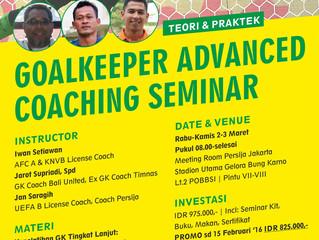 GK Advanced Coaching Seminar   JKT, 2-3 Maret '16
