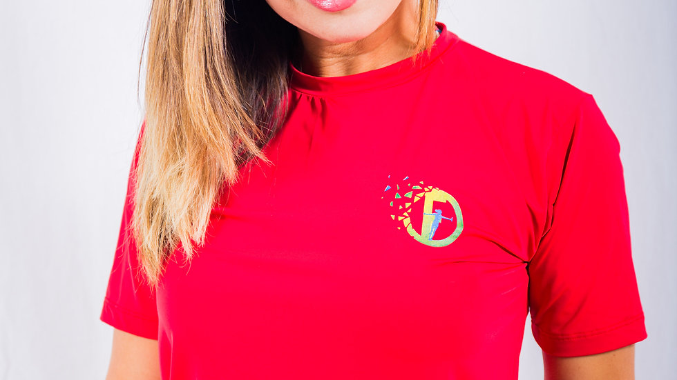 Red UV resistant shirt