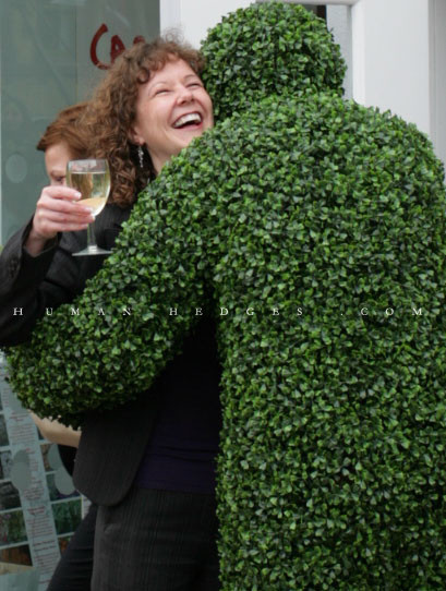Living Topiary Hugs Lady