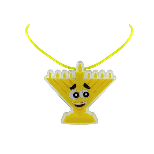 Light Up Menorah Necklace