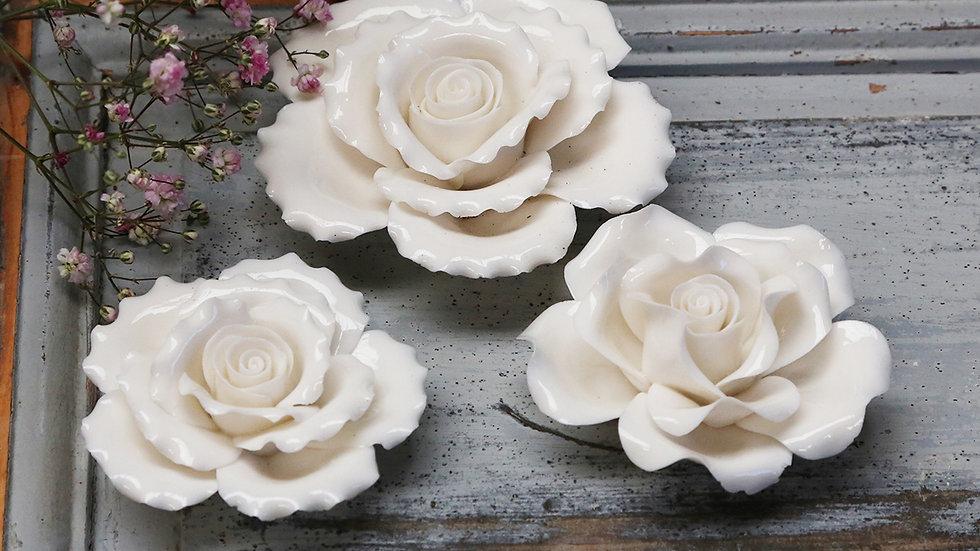 Porcelain Roses set of 3