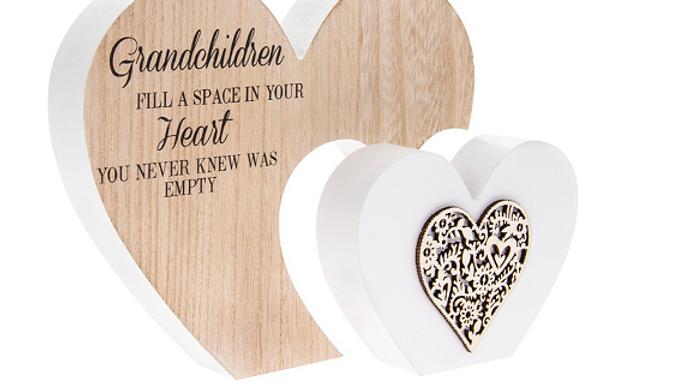 Double Heart Grandchildren