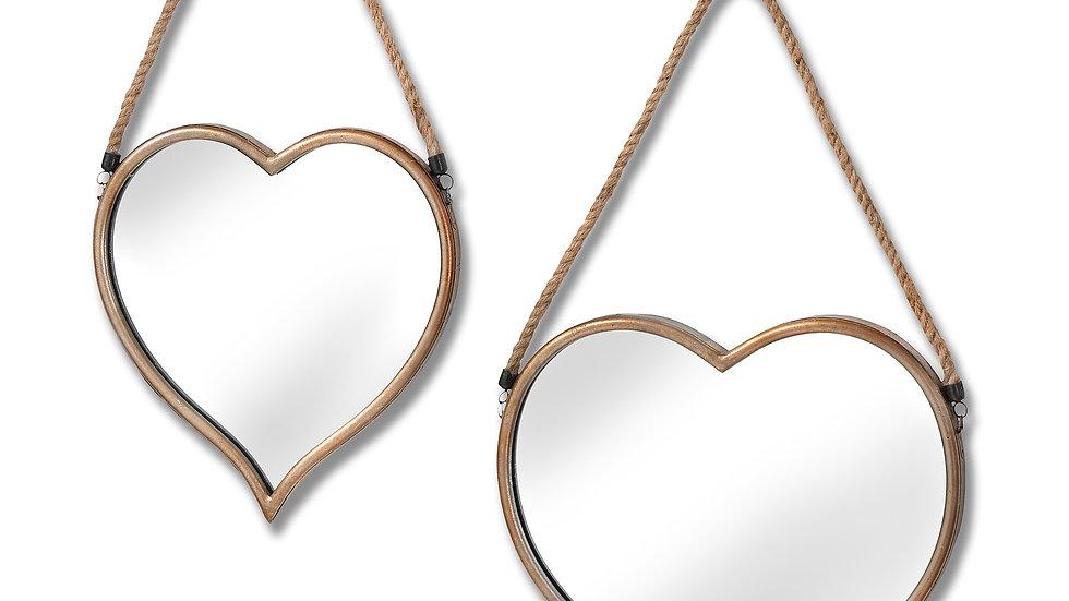 Heart mirrors set of 2