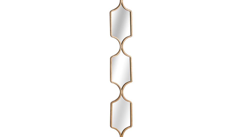 Gold square collage mirror