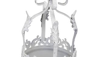 Large white distressed crown
