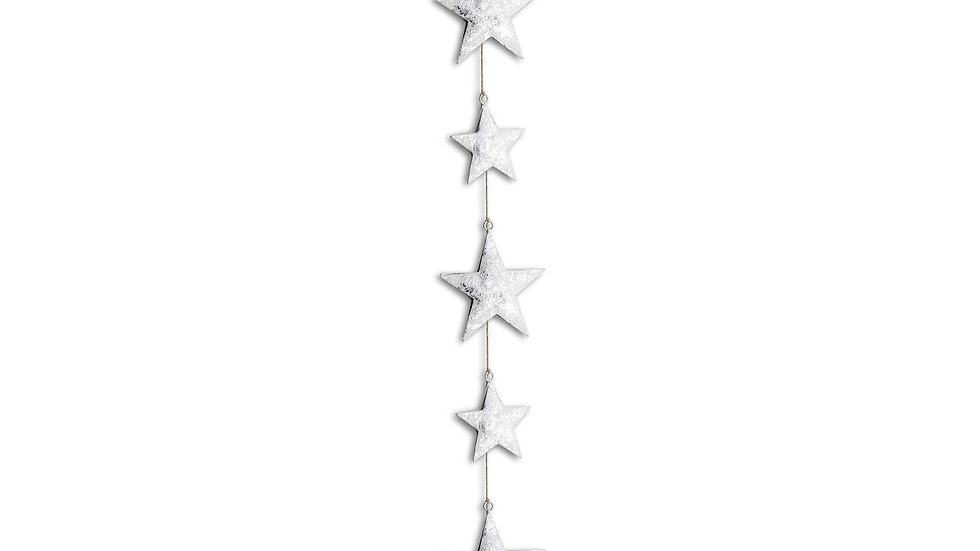 Hanging silver stars