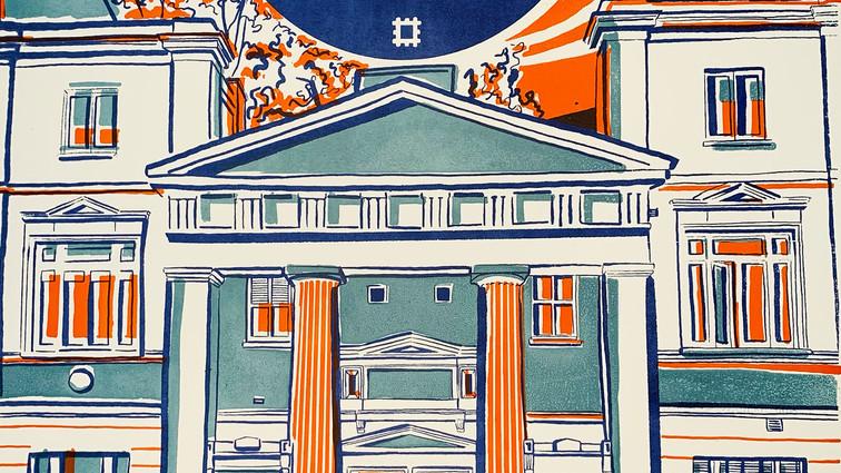 Blue Plaque poster- Ian Flemming