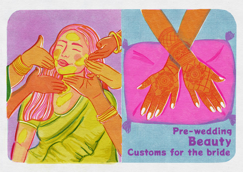 Riso Zine based on Indian wedding traditions