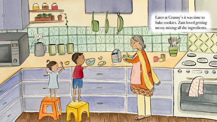 Original childrens book illustration