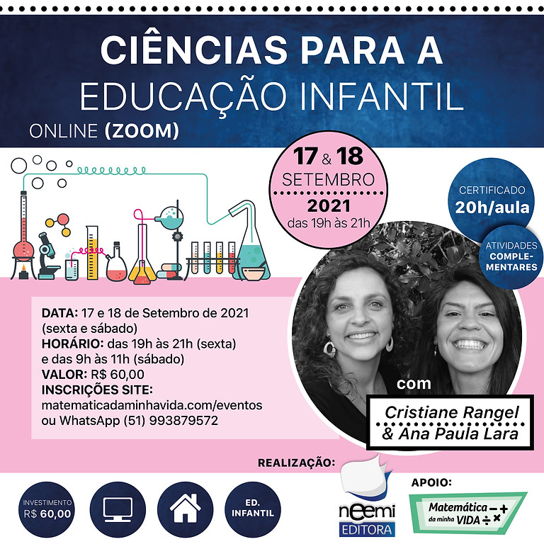 Ciências para a Educação Infantil (On-line - 18 e 19 SET)