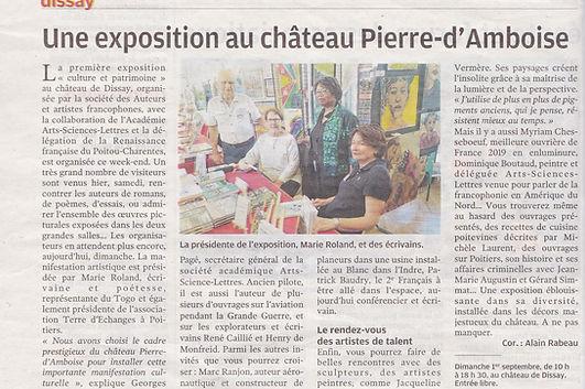 ARTICLE PRESSE Château de DISSAY